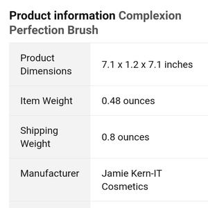 it cosmetics Makeup - IT cosmetic luxe brush #7. New.